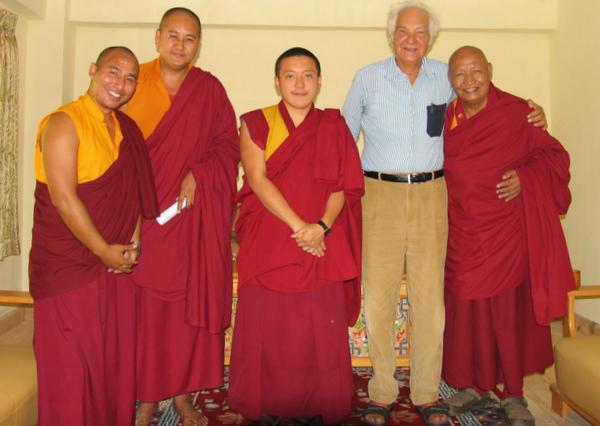 Dr Luigi with Yangsi Rinpoche